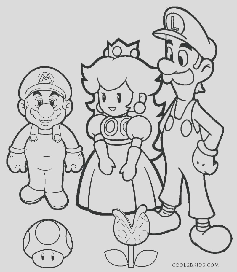 mario and luigi coloring pages