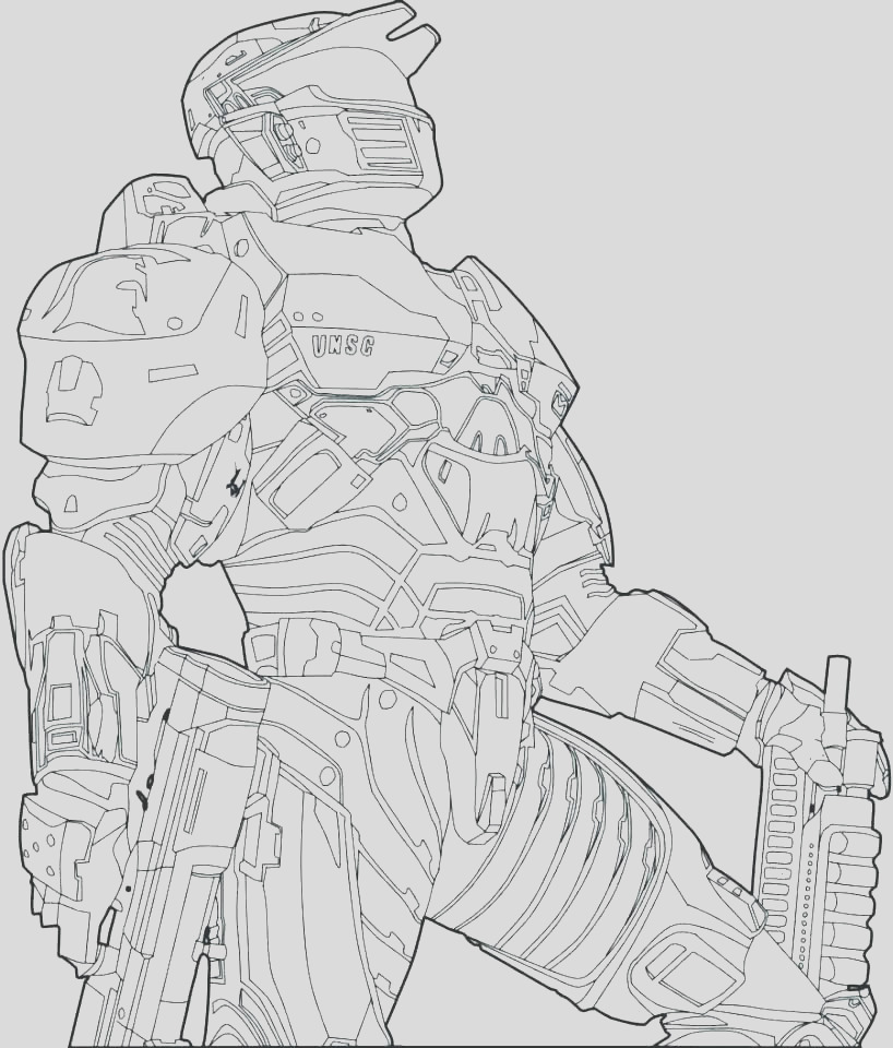 halo 4 master chief coloring pages