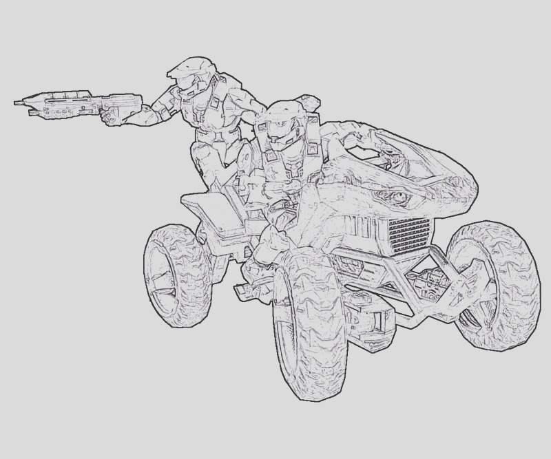 halo coloring pages