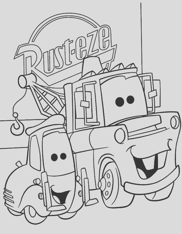lightning mcqueen and tow mater coloring pages