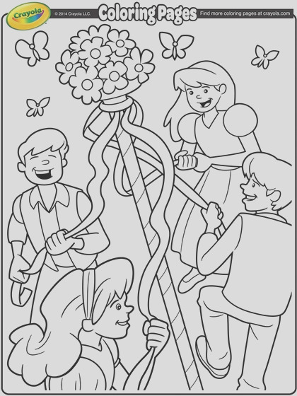 may day maypole coloring page