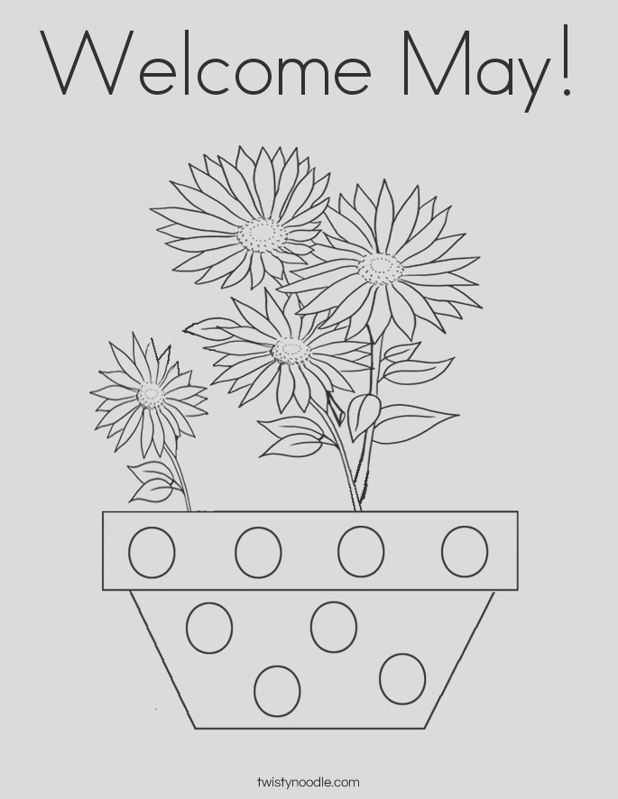 wel e may 36 coloring page