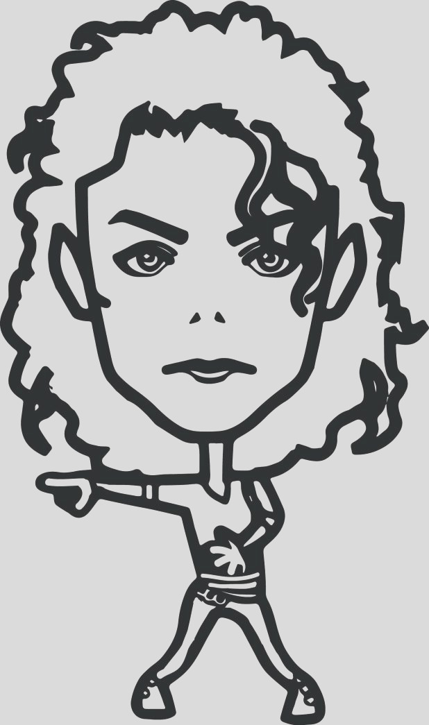 michael jackson drawing pictures
