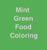 mint green food coloring