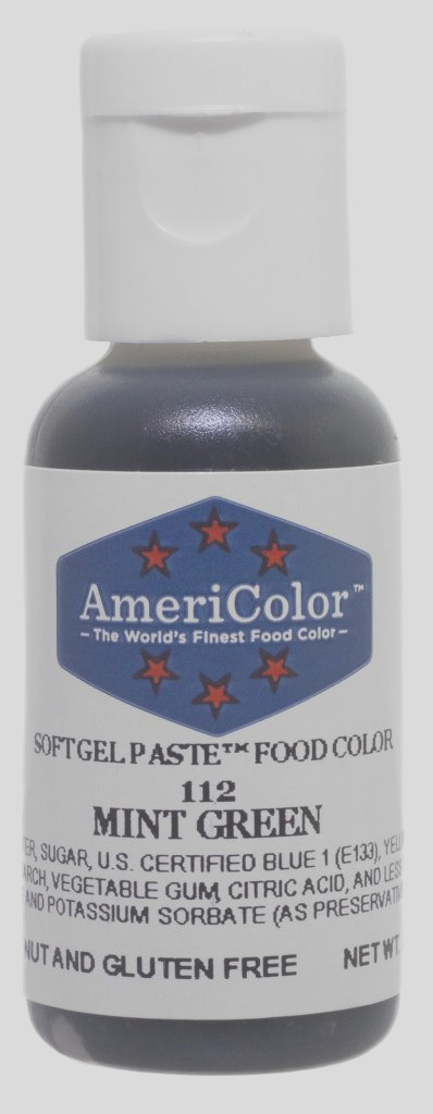 americolor soft gel paste food color 75 ounce mint green