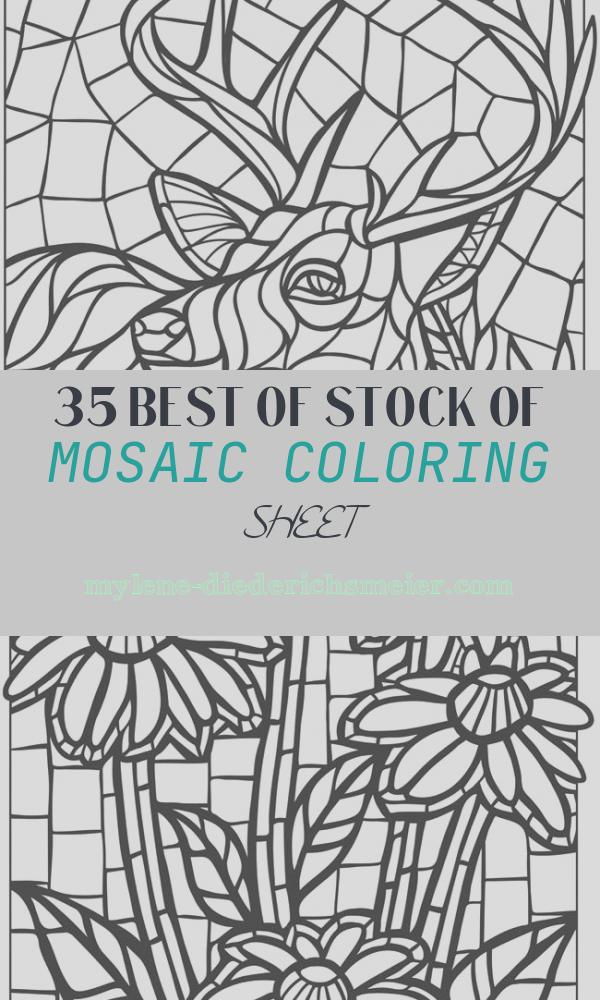 Mosaic Coloring Sheet Fresh Mosaic Coloring Pages for Adults Coloring Home