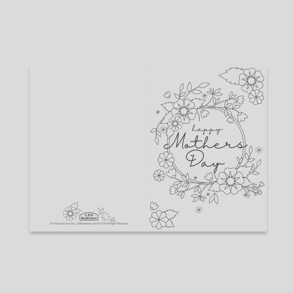 mother s day coloring card spring flowers printable