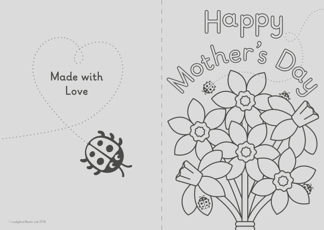 a diy mothers day card for little ones