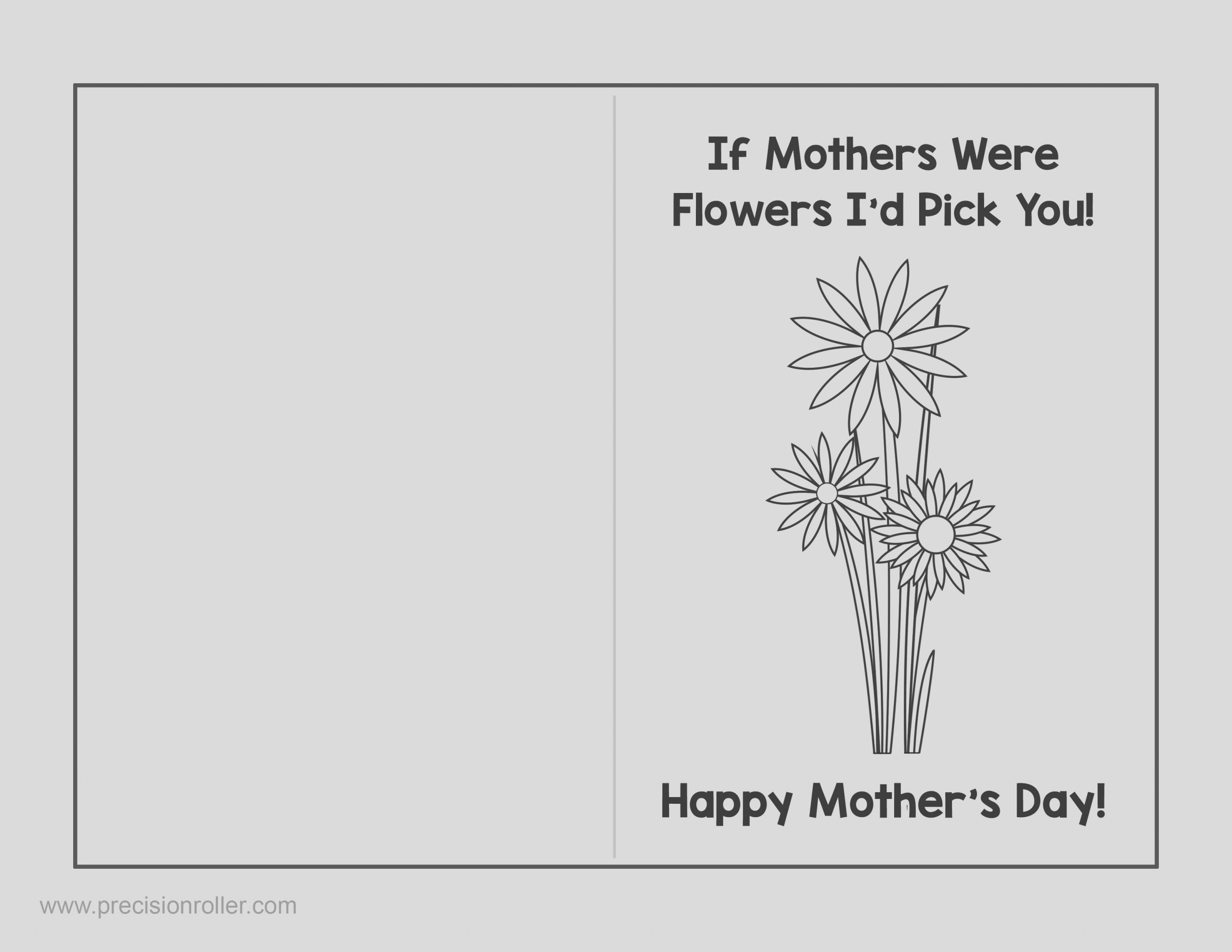 mothers day card and survey