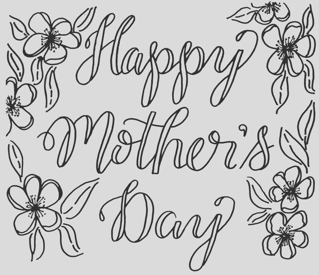 free mothers day coloring card