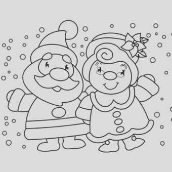 mr mrs claus coloring page