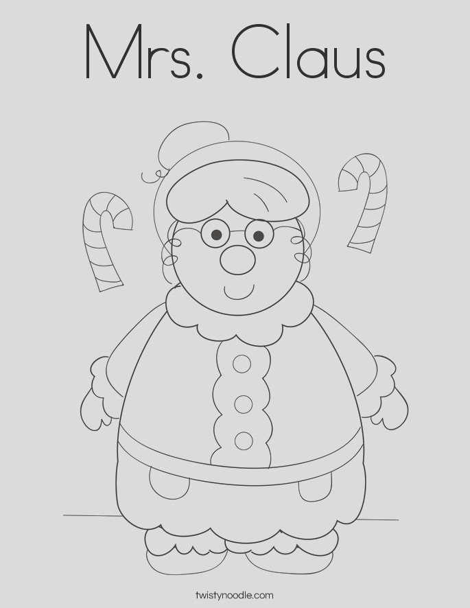 mrs claus 2 coloring page