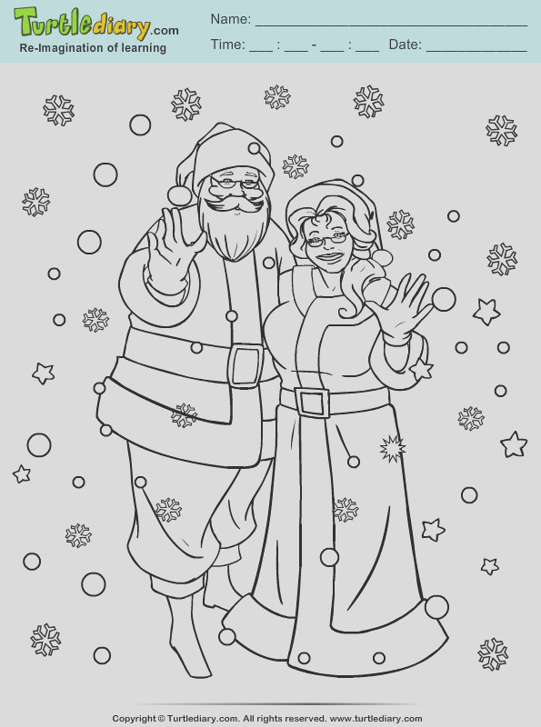 mr and mrs claus coloring page