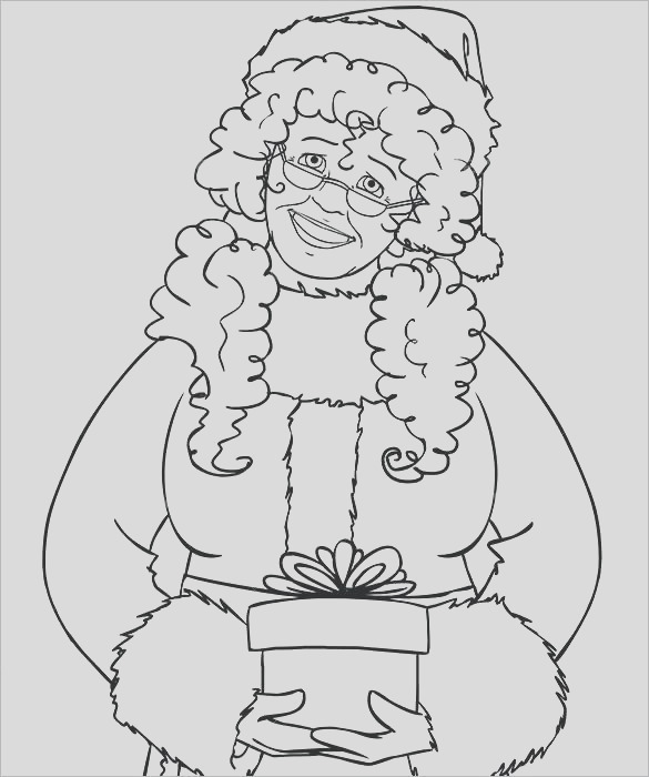 mrs claus coloring pages