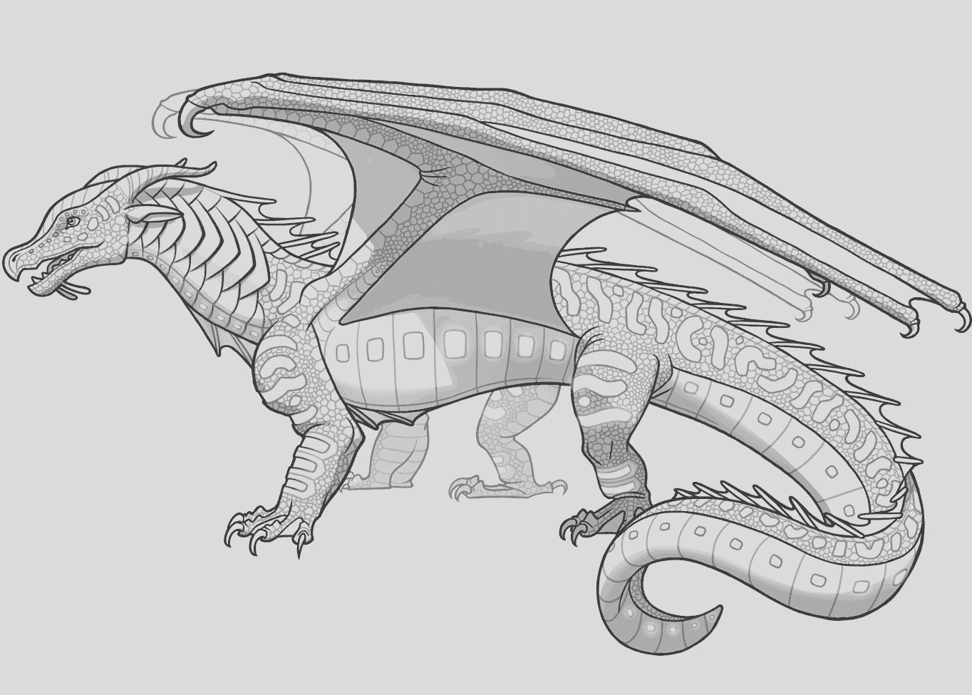 wings of fire coloring pages