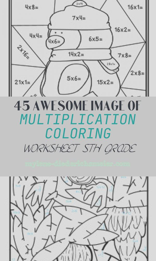 Multiplication Coloring Worksheet 5th Grade Fresh Winter Color by Number Multiplication by Amy isaacson