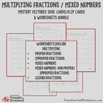Multiplying Fractions Mixed Numbers Worksheets Color Fraction Multiplication