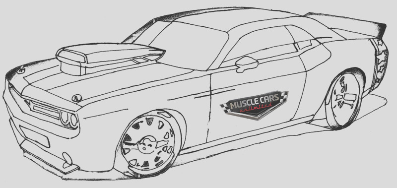 5 perfect muscle car coloring pages for all ages