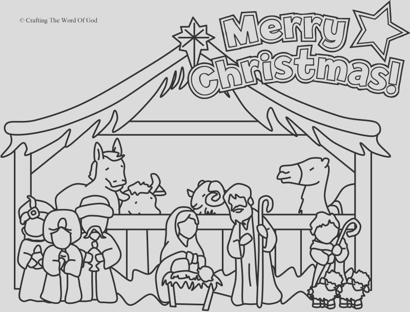 nativity coloring page coloring page