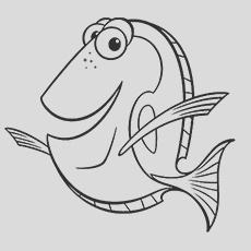 cute finding nemo coloring pages for your little ones