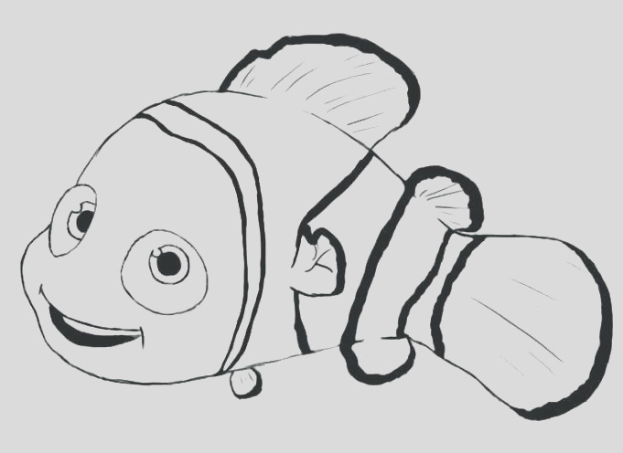 nemo outline drawing