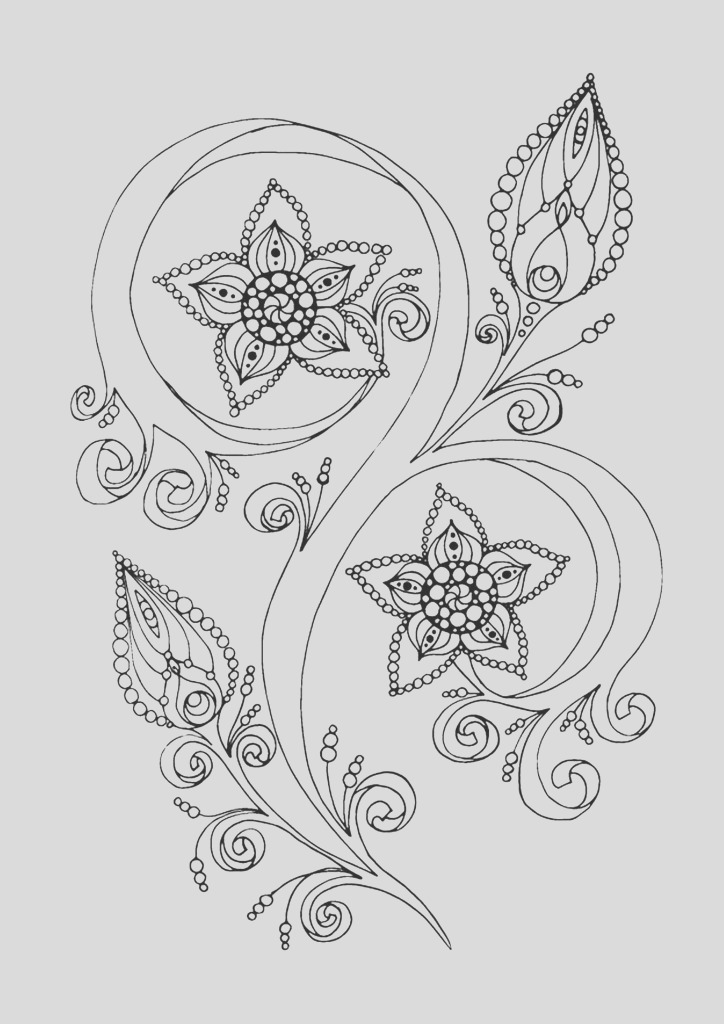 15 new anti stress adult coloring pages inspired by flowers