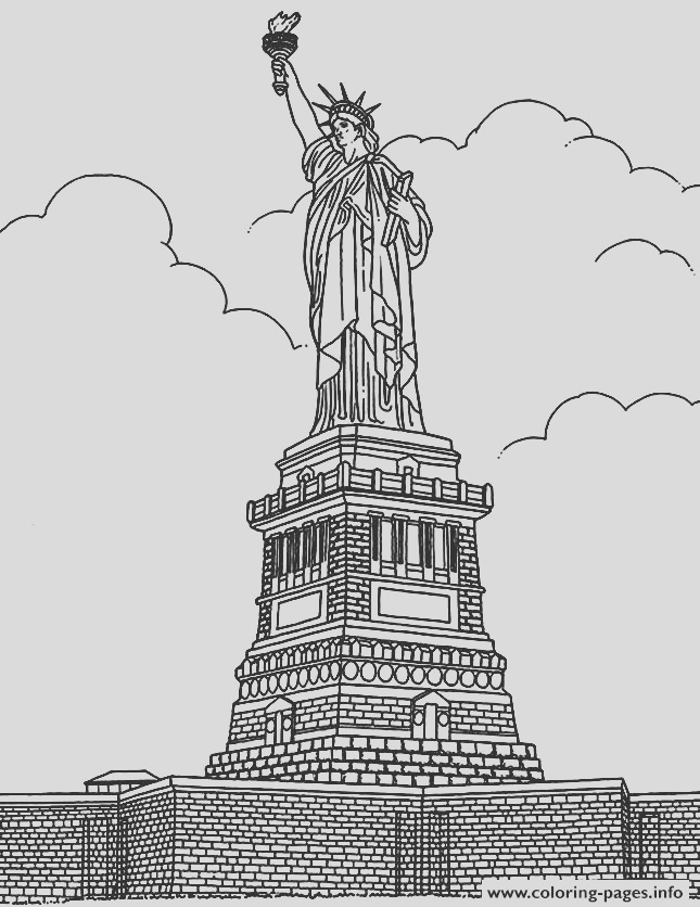 city coloring adult new york statue liberte printable coloring pages book