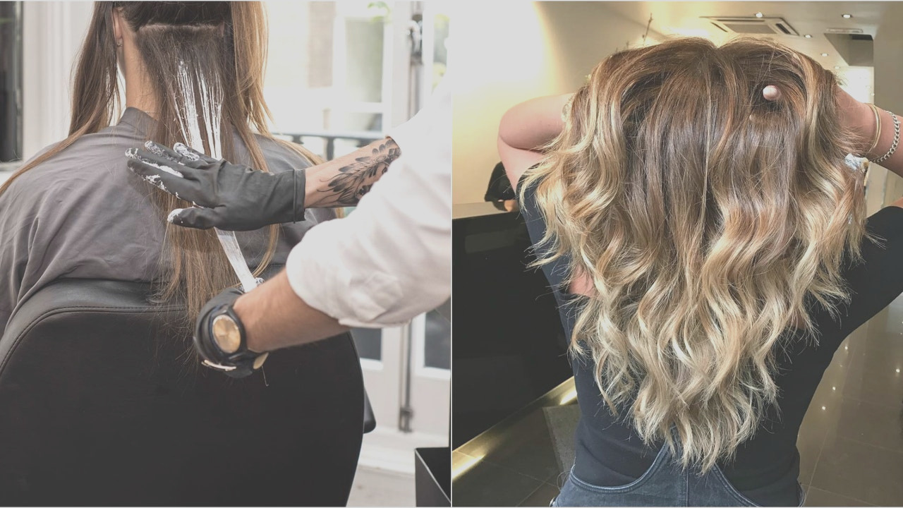 palm painting new hair coloring technique better than balayage