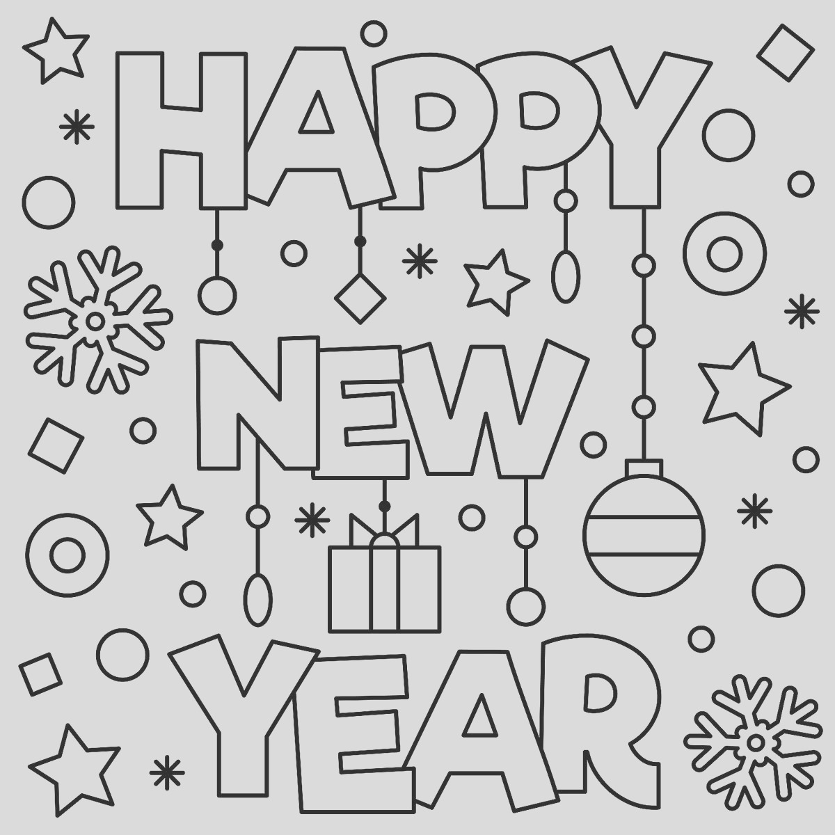 New Year January Coloring Pages Printable Fun to Help Kids Wel e 2018