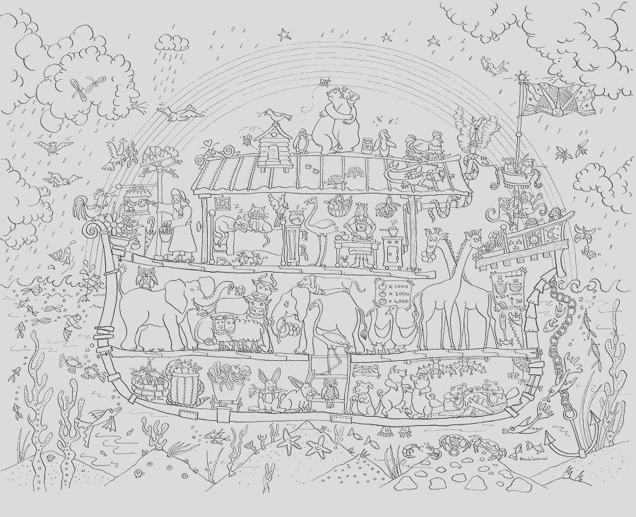 noah s ark colouring in poster