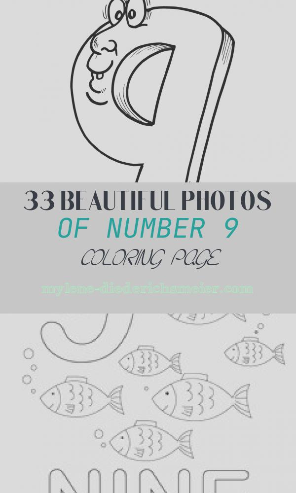 Number 9 Coloring Page Awesome Free Printable Number Coloring Pages for Kids
