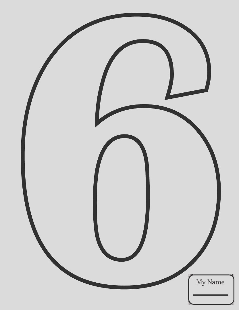 number 0 coloring page