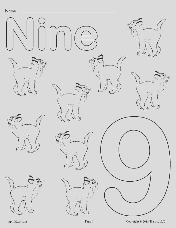 free printable animal number coloring pages numbers 1 10 A7942