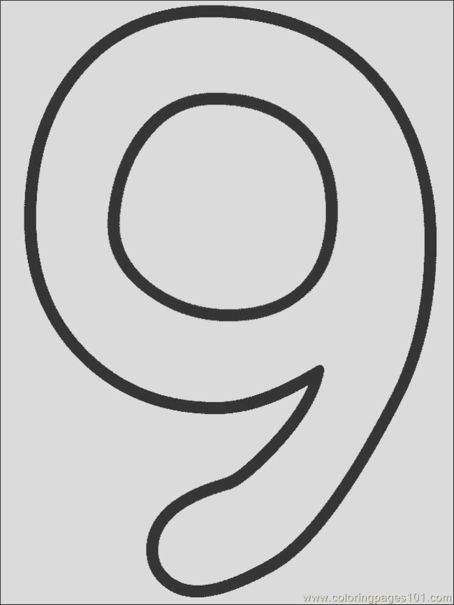 3074 numbers 9 coloring page