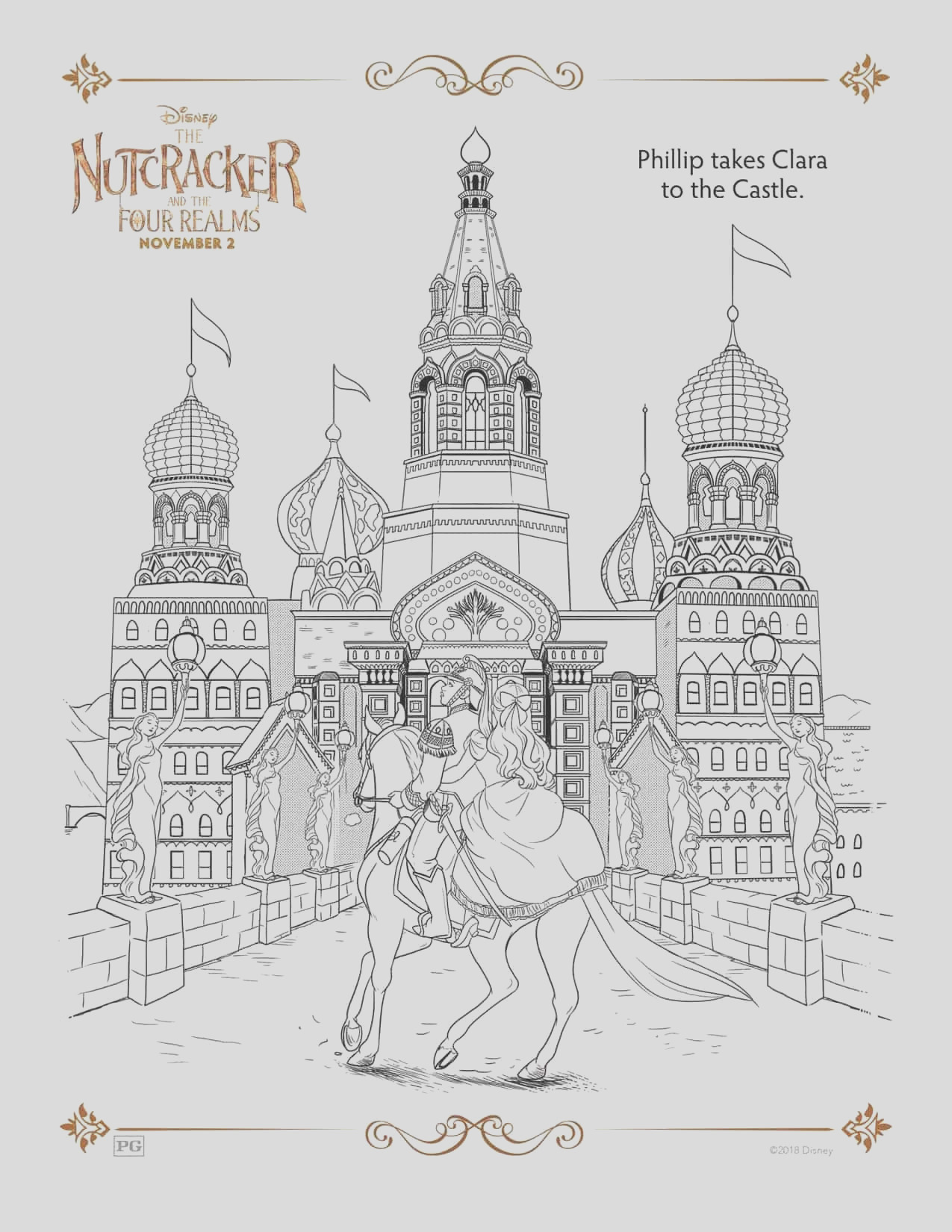 the nutcracker and the four realms free printable activity sheets coloring pages