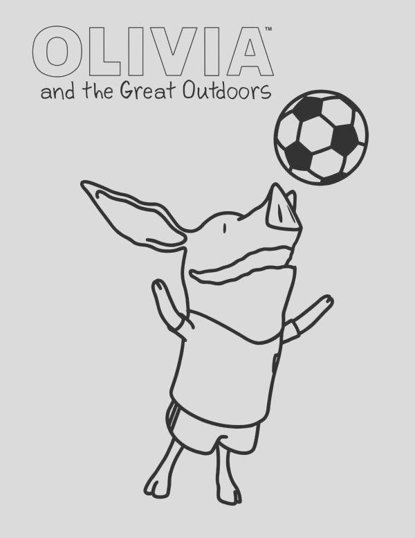 olivia the pig and the great outdoors coloring page