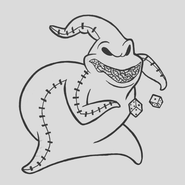 oogie boogie coloring pages