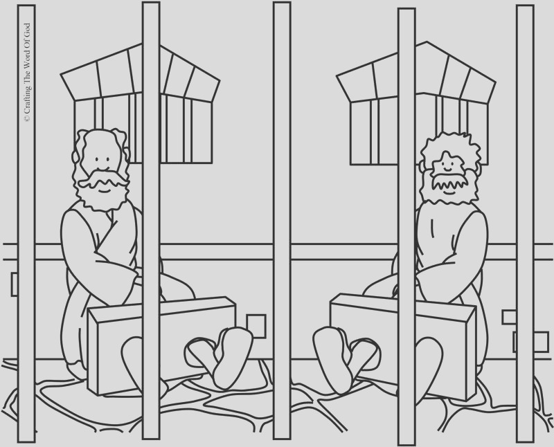 paul and silas in prison coloring page