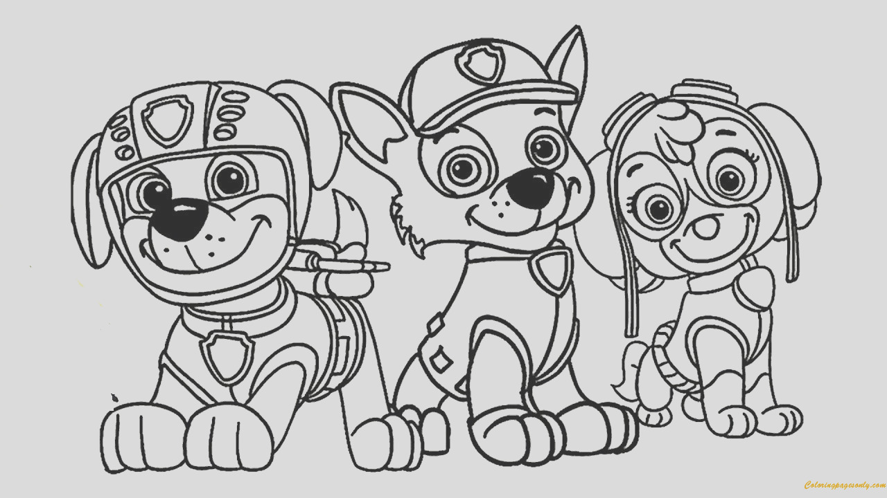 paw patrol coloring pages sky