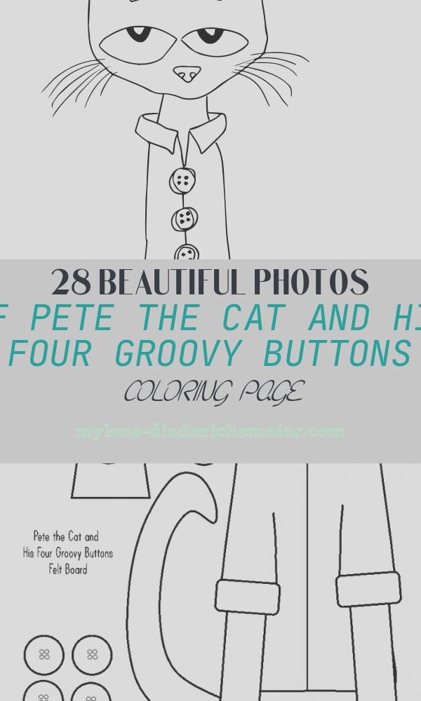 Pete the Cat and His Four Groovy buttons Coloring Page Beautiful Print Content