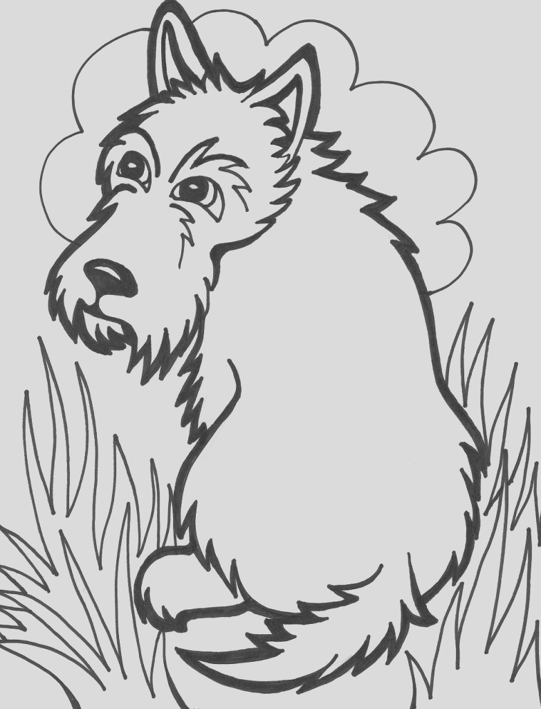 cute dog coloring pages photo