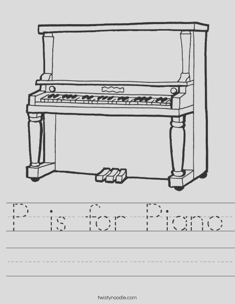 p is for piano 12 worksheet