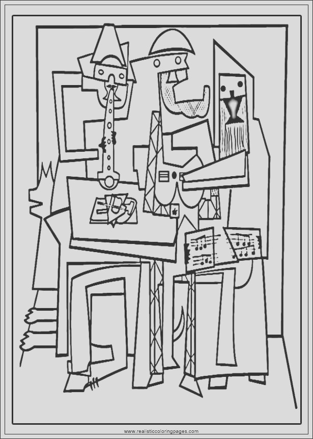 arts of picasso printable coloring pages