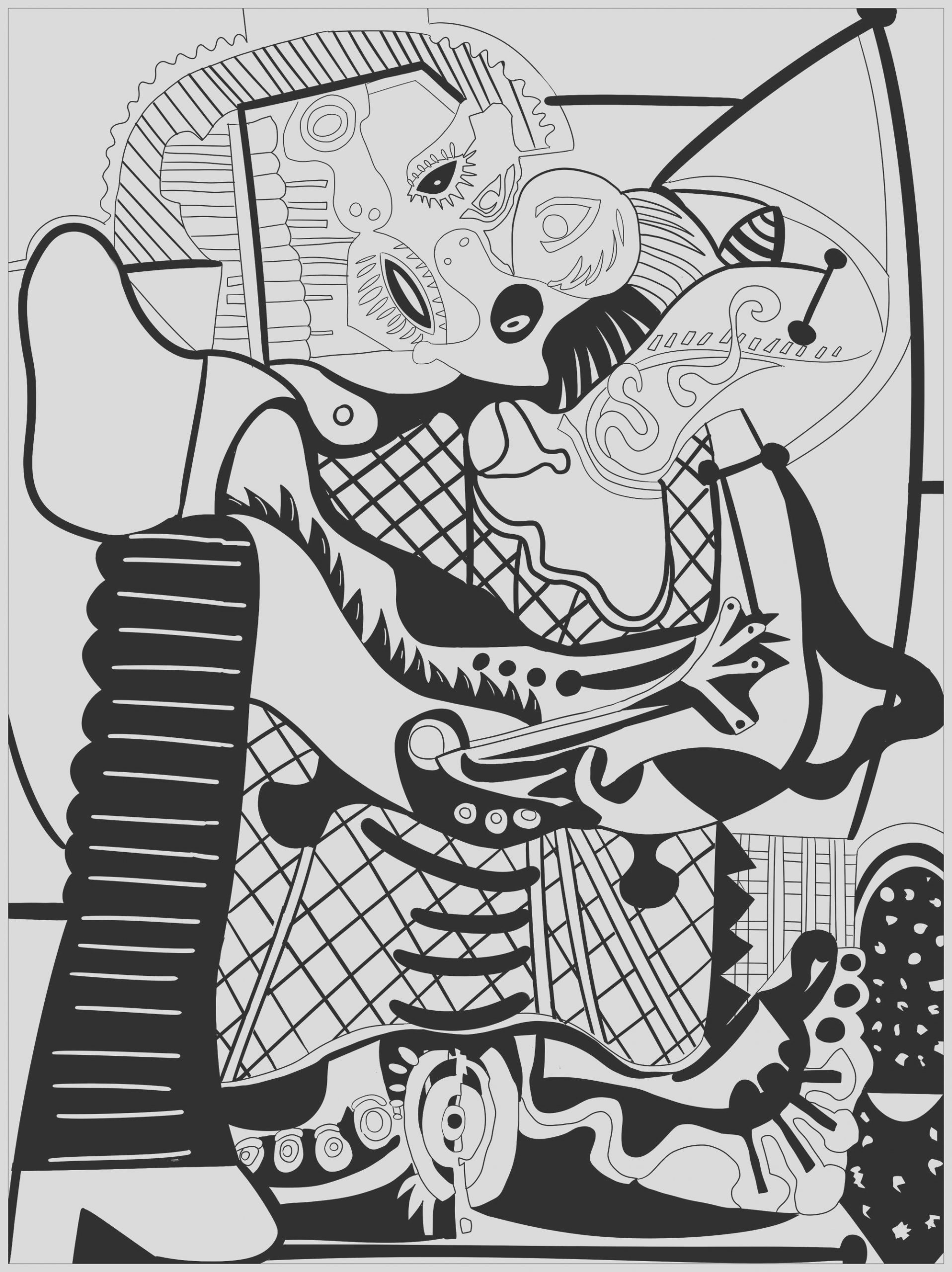 image=picasso coloring pages for children pablo picasso 1