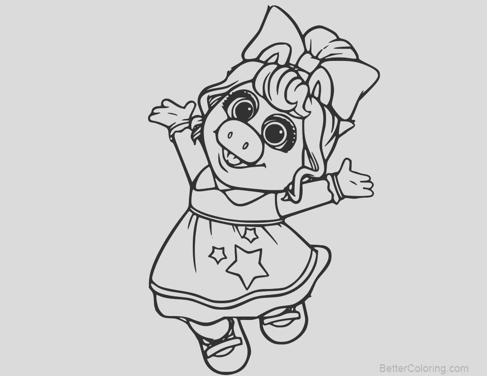 muppet babies baby miss piggy coloring pages
