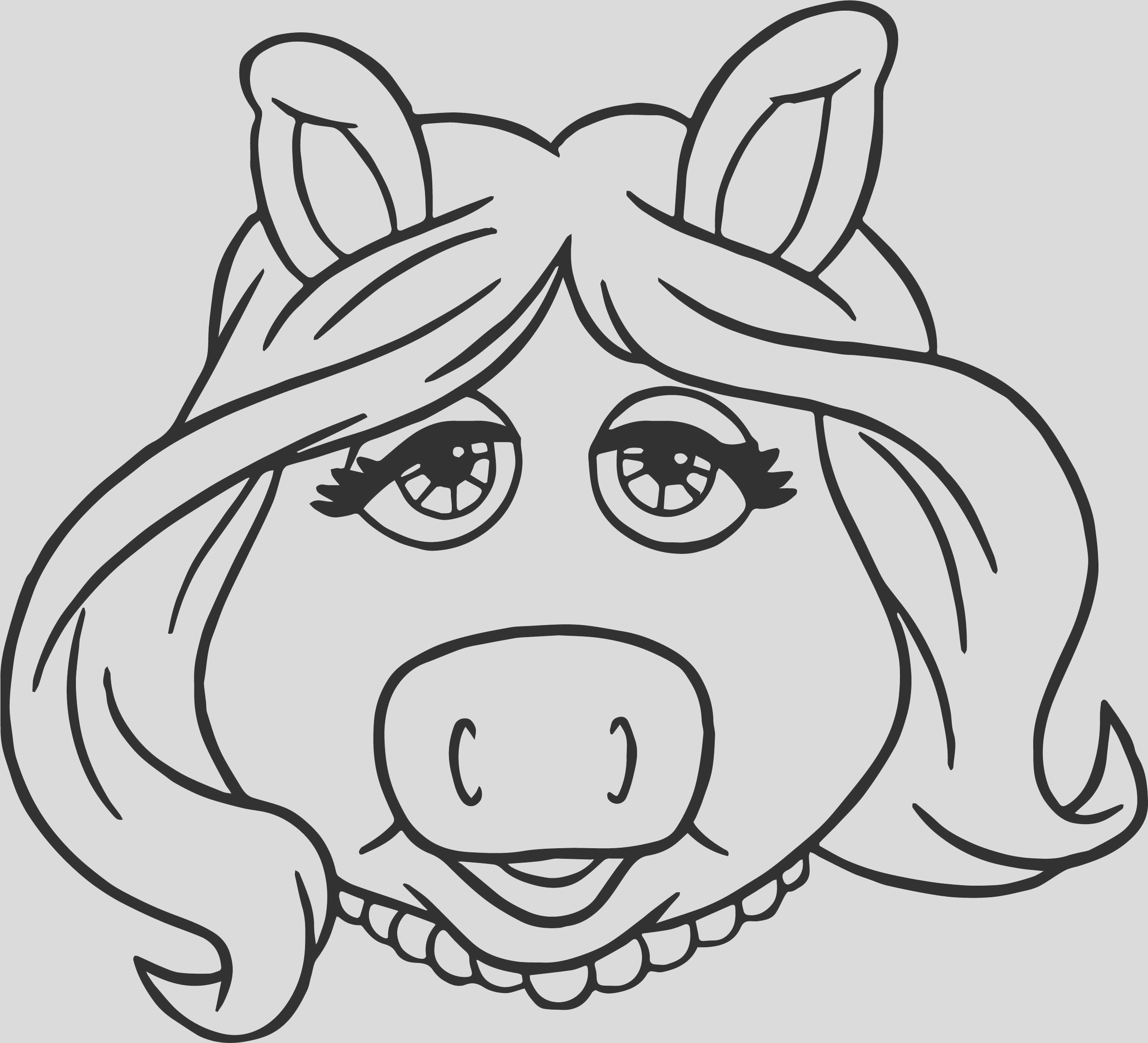 muppets miss piggy coloring pages