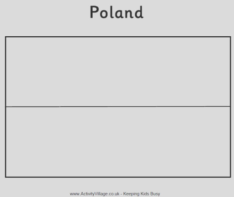 poland flag colouring page