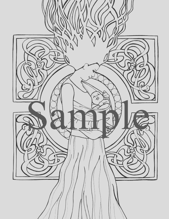 birth and pregnancy coloring pages