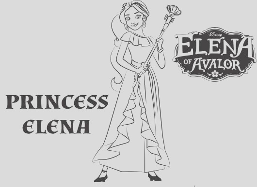 elena avalor coloring activity pages