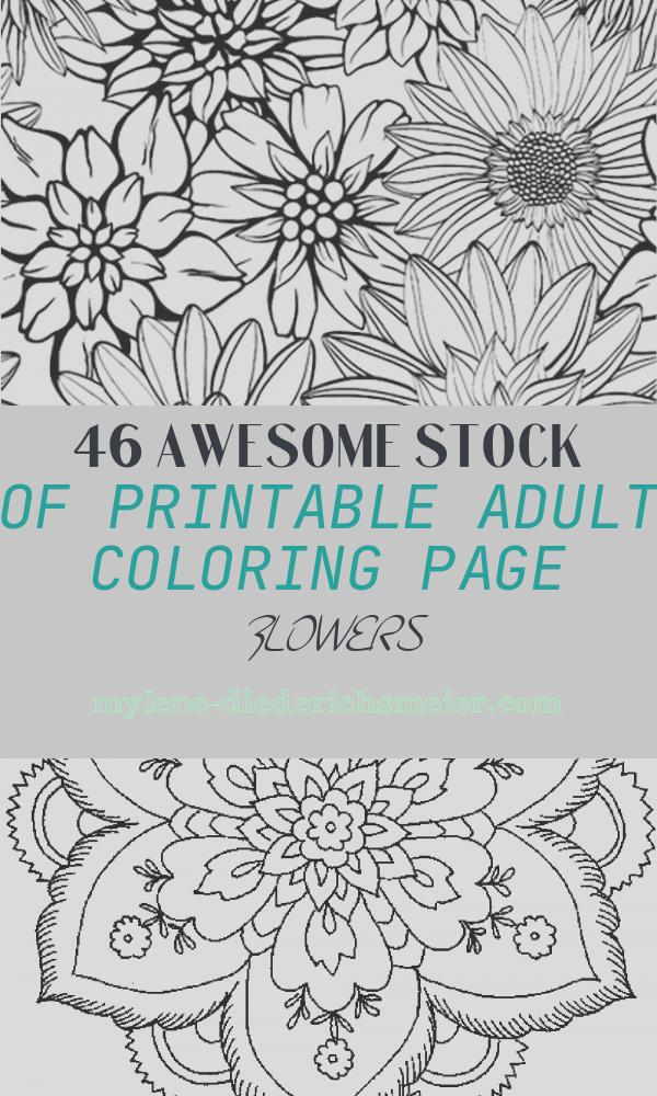 Printable Adult Coloring Page Flowers New Flower Coloring Page 79